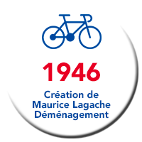 Lagache Mobility Pastille 1946 Création de Maurice Lagache Déménagement