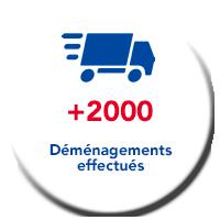 Lagache Mobility Pastille +2000 déménagements effectués